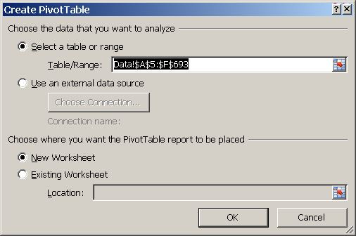 Superb Excel, How To Create A PivotTable, Create PivotTable Dialog Box ...