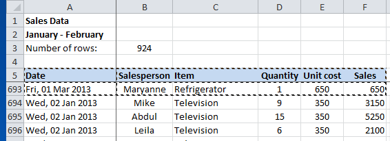 How to update or add new data to an existing Pivot Table in