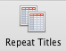 Excel for Mac, Repeat Titles button