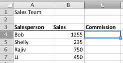 Excel sales team commission example