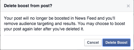 How to reduce the budget on a boosted post in Facebook