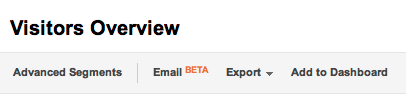 Email report button in the new Google Analytics