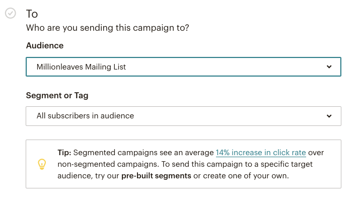 Mailchimp email campaign - define segment or tag | Learn Mailchimp with Five Minute Lessons