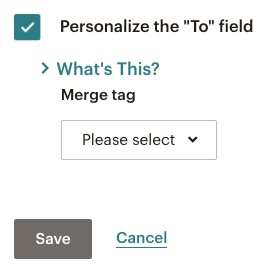 Mailchimp email campaign - personalise the To field with a Merge tag | Learn Mailchimp with Five Minute Lessons