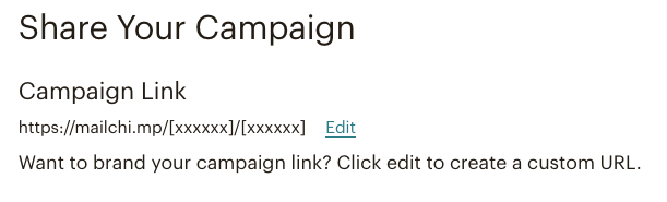 Mailchimp email campaign - options for sharing a campaign link | Learn Mailchimp with Five Minute Lessons