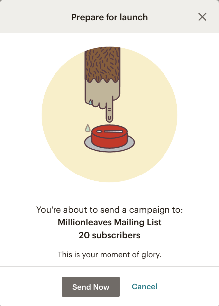 Mailchimp email campaign - send your campaign now | Learn Mailchimp with Five Minute Lessons
