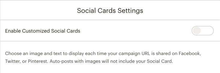 Mailchimp Social Cards not enabled for campaign | Learn Mailchimp with Five Minute Lessons